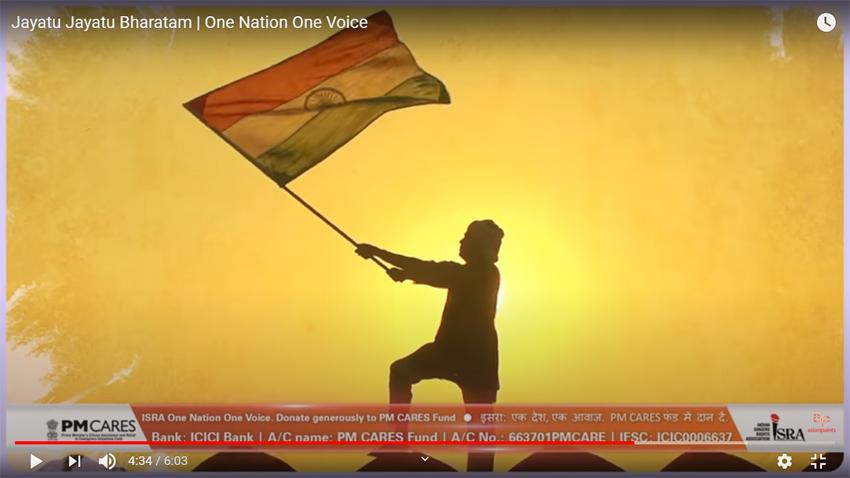 One Nation One Voice Over 200 Singers Sing Jayatu Jayatu Bharatam From The World Of Indian Classical Dance Music